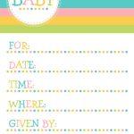 25 Adorable Free Printable Baby Shower Invitations   Free Printable Baby Sprinkle Invitations