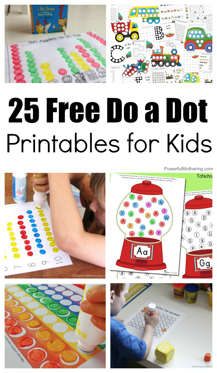 25 Free Do A Dot Printables For Kids To Play And Learn With - Free Dot Painting Printables