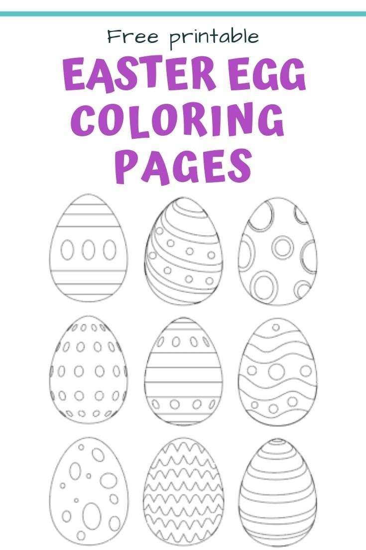 25+ Free Printable Easter Egg Templates & Easter Egg Coloring Pages - Easter Egg Coloring Pages Free Printable
