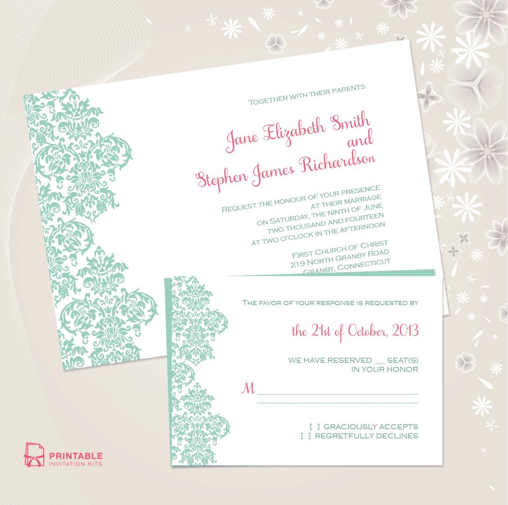 25 Free Printable Wedding Invitations - Free Printable Wedding Invitation Kits