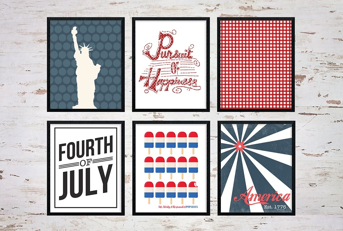 25+ July 4Th Free Printables • Little Gold Pixel - Free 4Th Of July Printables