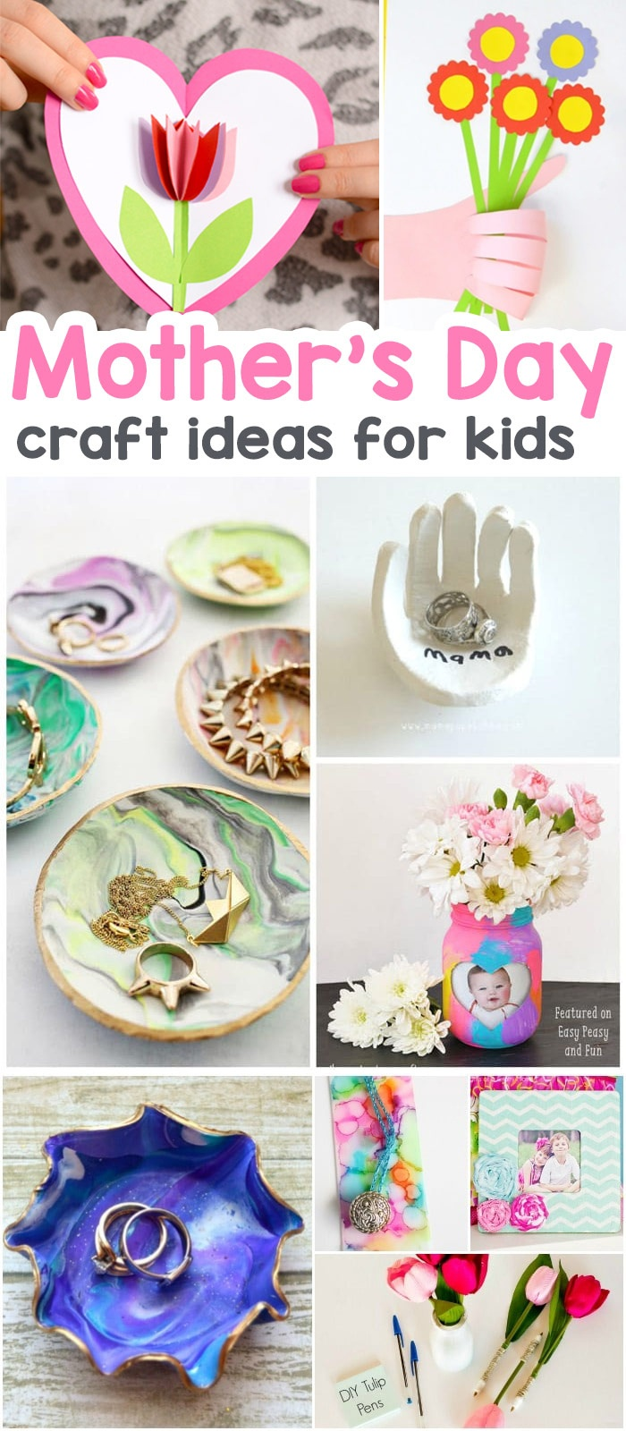 25+ Mothers Day Crafts For Kids - Most Wonderful Cards, Keepsakes - Free Printable Mothers Day Crafts