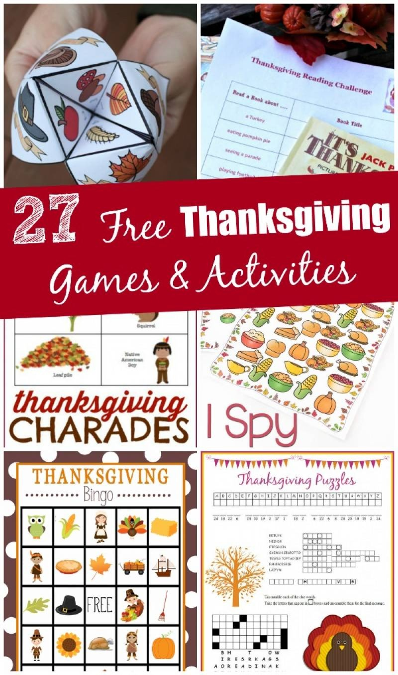 27 Free Thanksgiving Games & Activities (Printable) - Edventures - Free Printable Thanksgiving Images