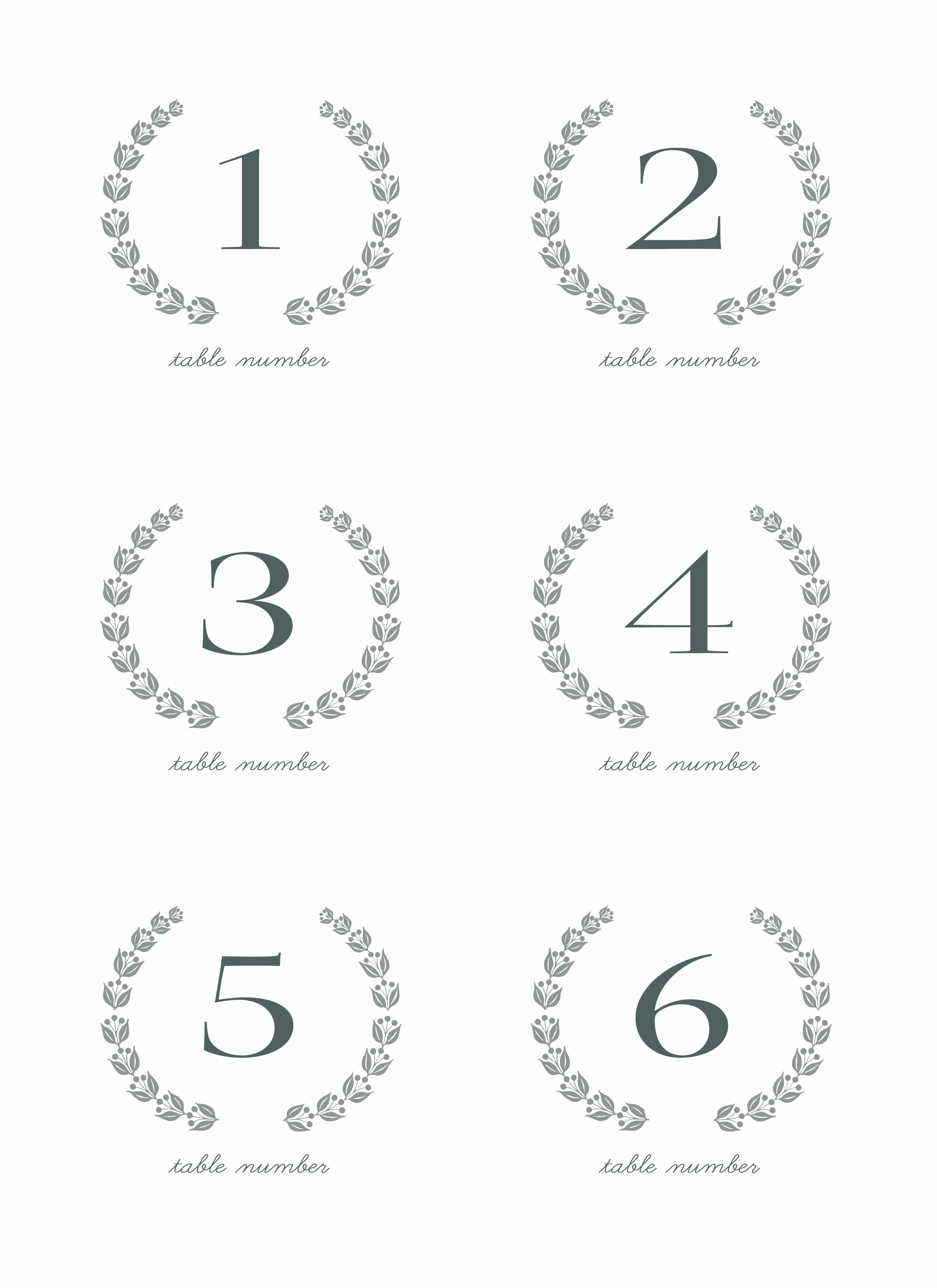 28 Elegant Printable Table Numbers | Kittybabylove - Free Printable Table Numbers 1 30