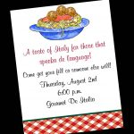 28 Images Of Free Template For Italian Party | Unemeuf   Free Printable Italian Party Invitations