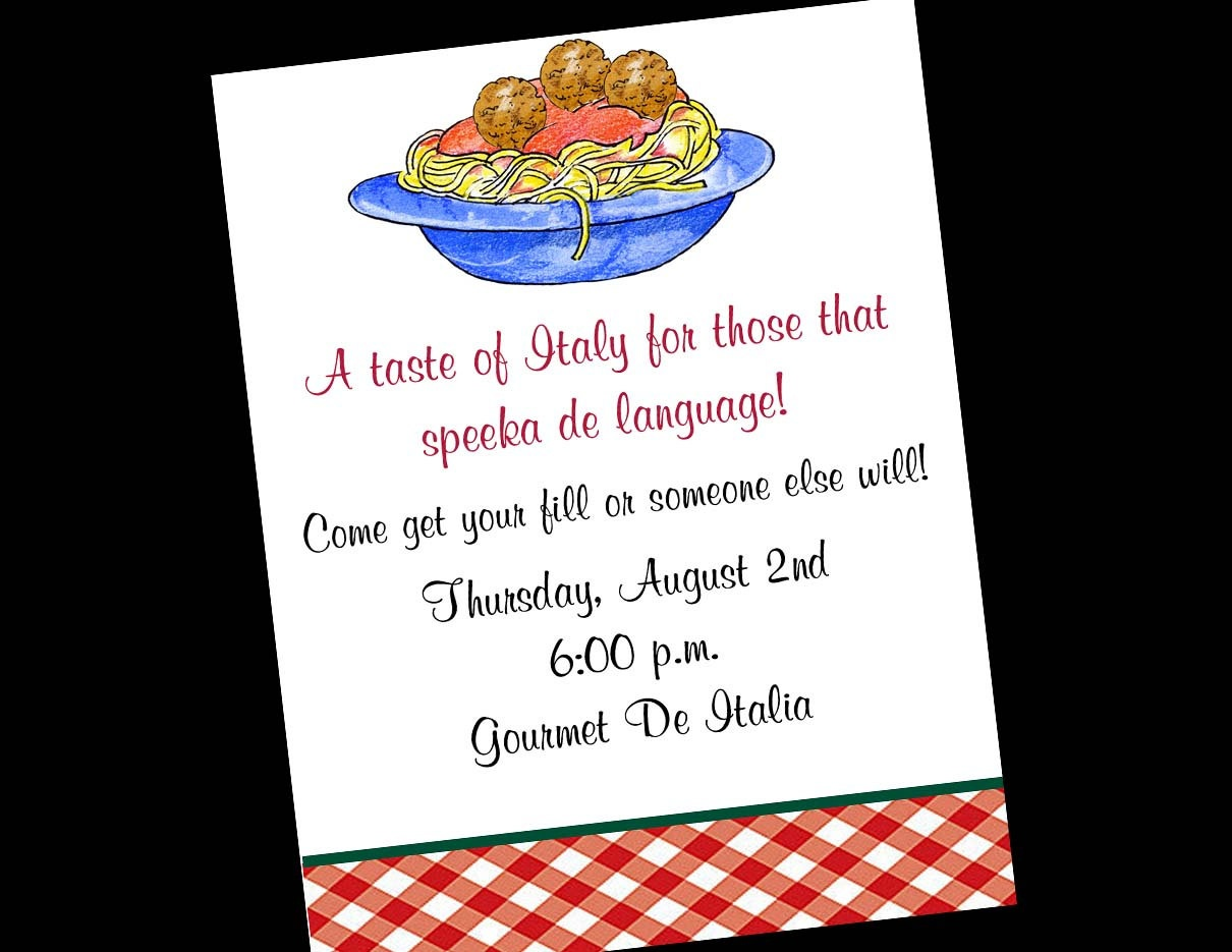 28 Images Of Free Template For Italian Party | Unemeuf - Free Printable Italian Party Invitations