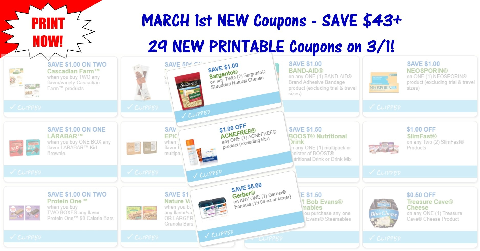 29 New Printable Coupons ~ March 1St New Coupons! - Acne Free Coupons Printable