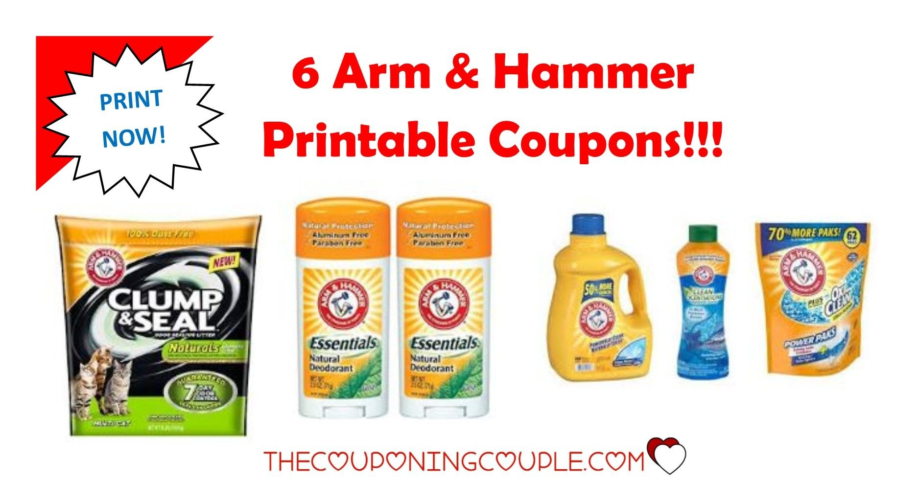 3 Arm & Hammer Printable Coupons ~ Print Now!! - Free Printable Arm And Hammer Coupons