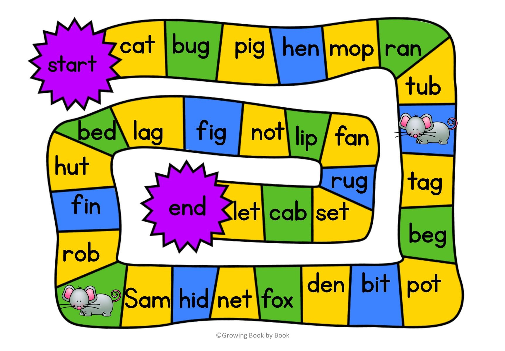 3 Free Printable Cvc Word Games - Free Printable Cvc Words With Pictures