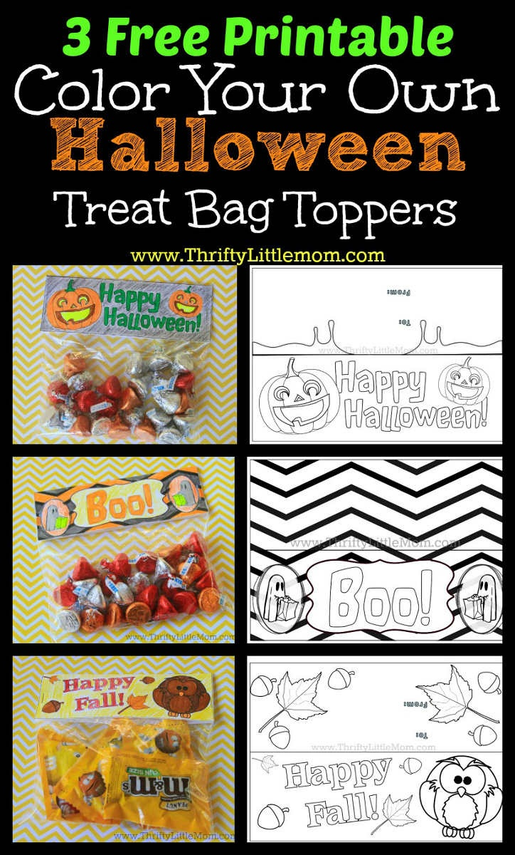 3 Free Printable Halloween Treat Bag Toppers » Thrifty Little Mom - Free Printable Trick Or Treat Bags