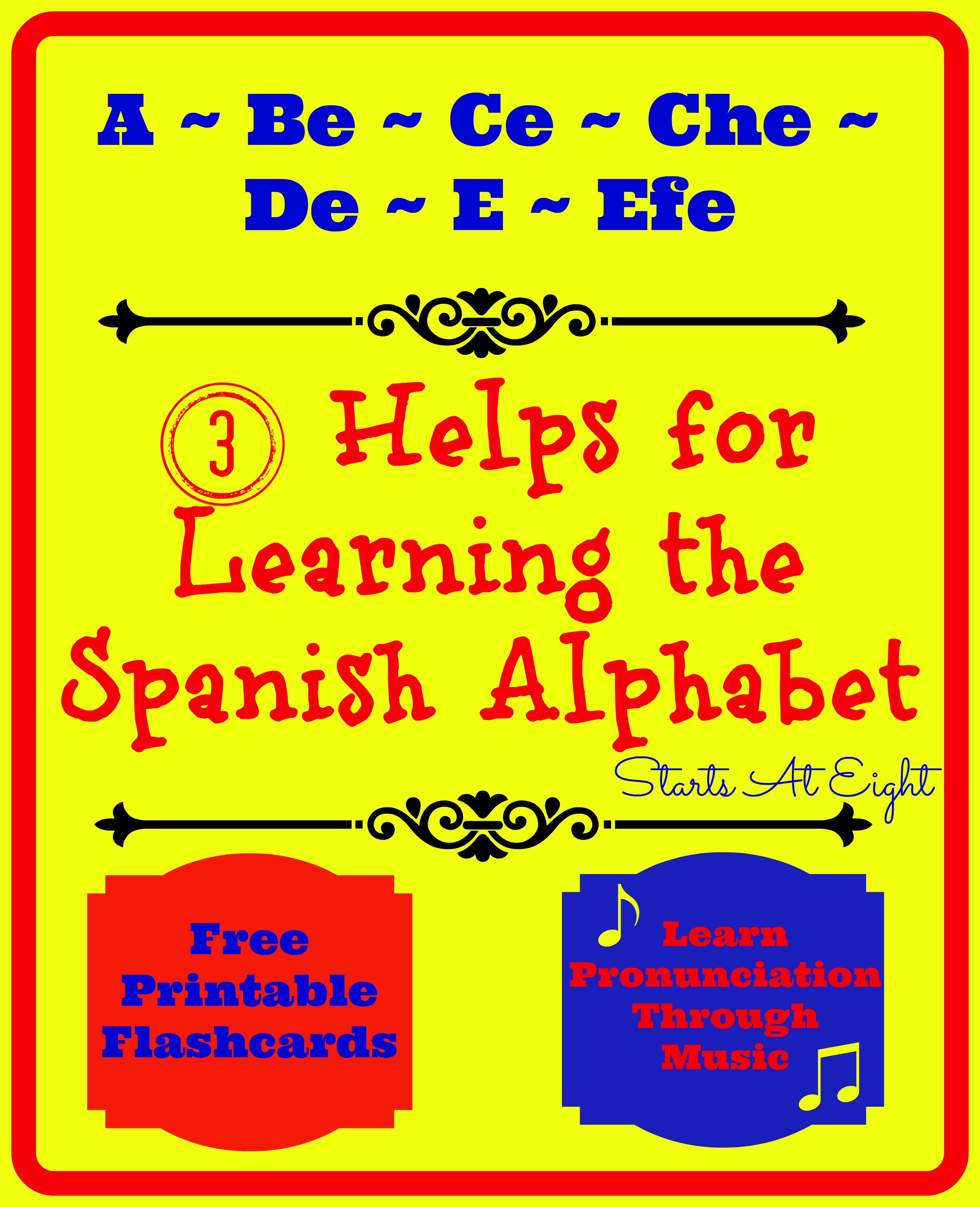 3 Helps For Learning The Spanish Alphabet - Startsateight - Spanish Alphabet Flashcards Free Printable