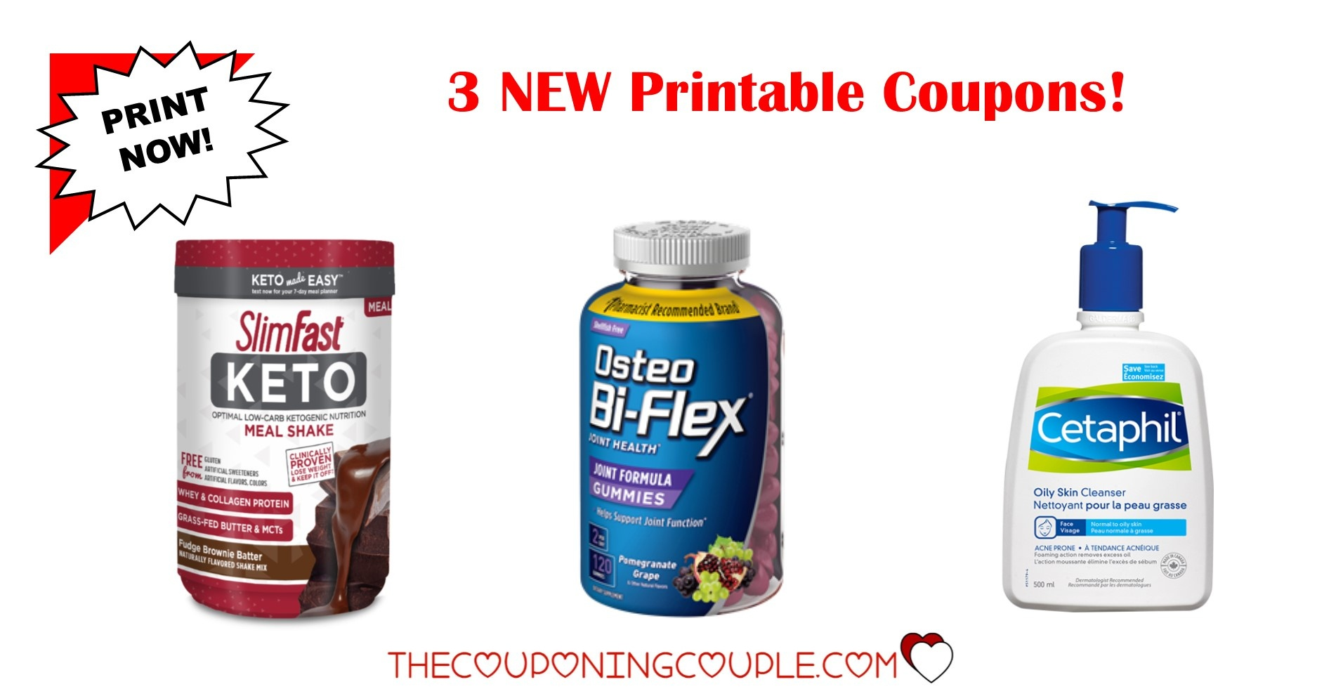3 New Printable Coupons ~ $10 In Savings! Print Now! - Acne Free Coupons Printable