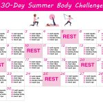 30 Day Summer Body Challenge + Free Printable Workout Schedule   Free Printable Workout Plans
