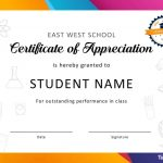 30 Free Certificate Of Appreciation Templates And Letters   Free Printable Certificates For Students