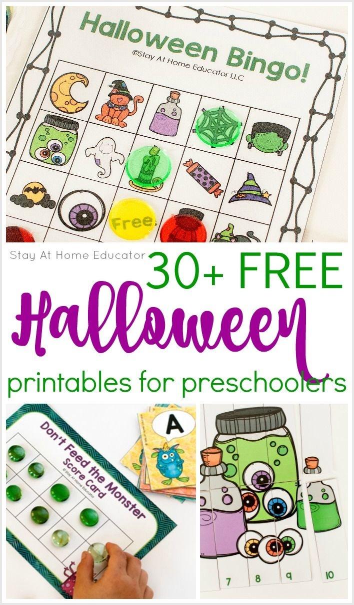 30 Free Halloween Printables For Preschool | Stay At Home Educator - Free October Preschool Printables