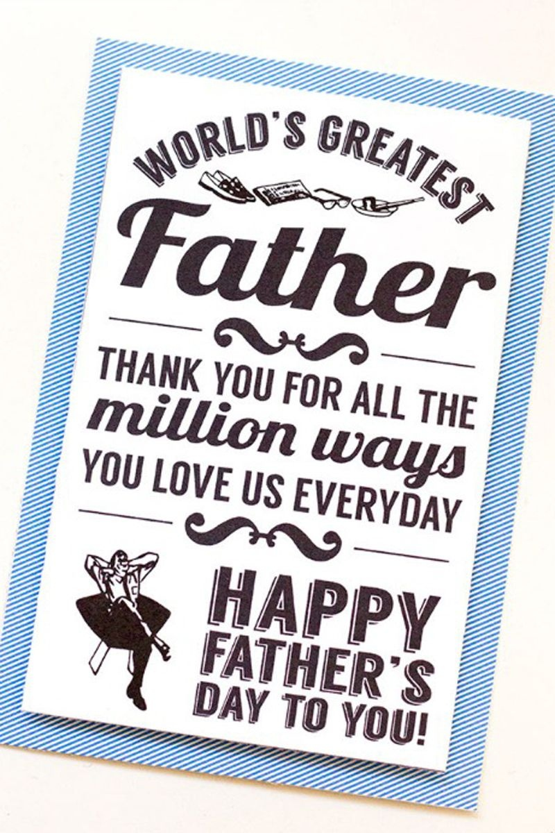 30 Free Printable Father's Day Cards - Cute Online Father's Day - Free Happy Fathers Day Cards Printable