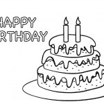 30+ Marvelous Photo Of Birthday Cake Coloring Pages | Birthday Cake   Free Printable Pictures Of Birthday Cakes