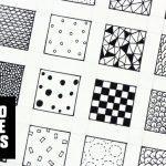 30 Patterns For Doodling / Filling Gaps   Youtube   Free Printable Doodle Patterns