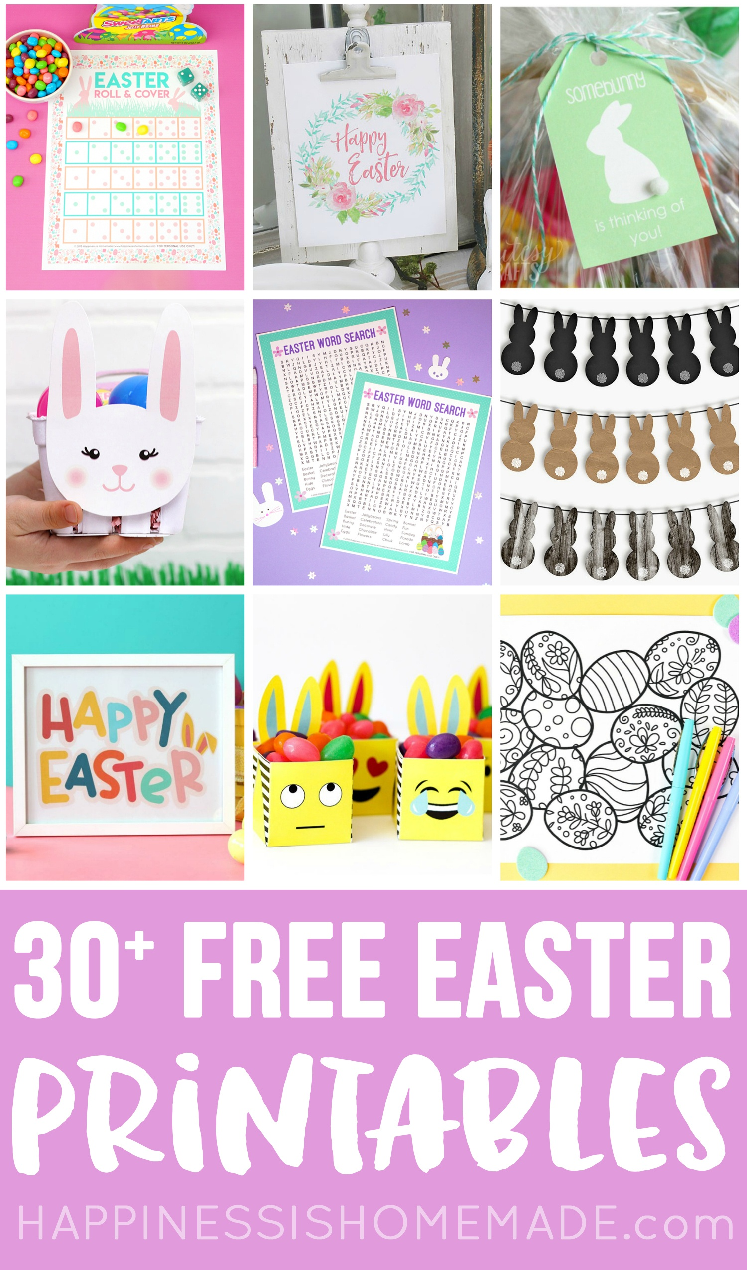 30+ Totally Free Easter Printables - Happiness Is Homemade - Free Printable Easter Decorations