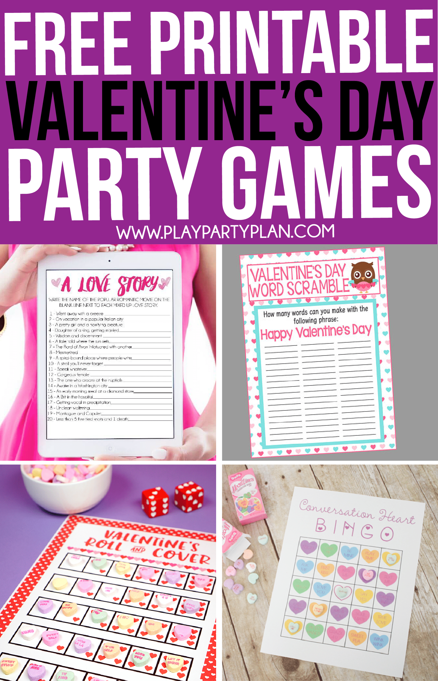 30 Valentine's Day Games Everyone Will Absolutely Love - Play Party Plan - Free Printable Valentine Game