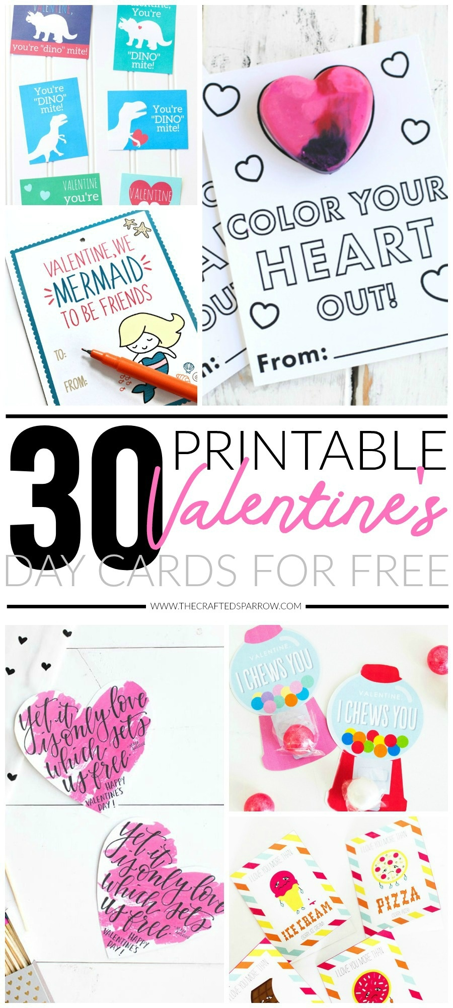 30 Valentines Day Printable Cards - Free Printable Valentines Day Cards For Mom And Dad