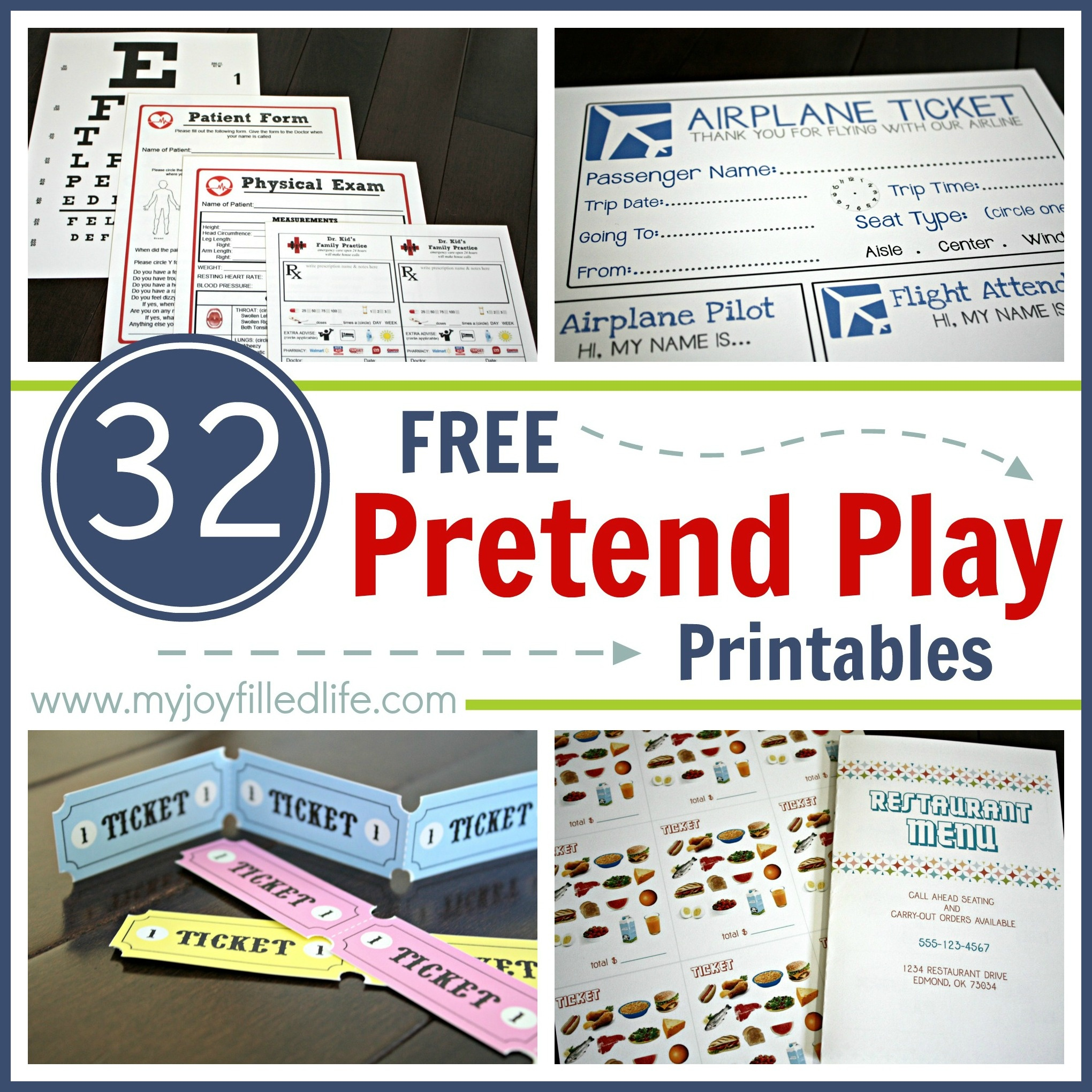 32 Free Pretend Play Printables - My Joy-Filled Life - Post Office Dramatic Play Free Printables