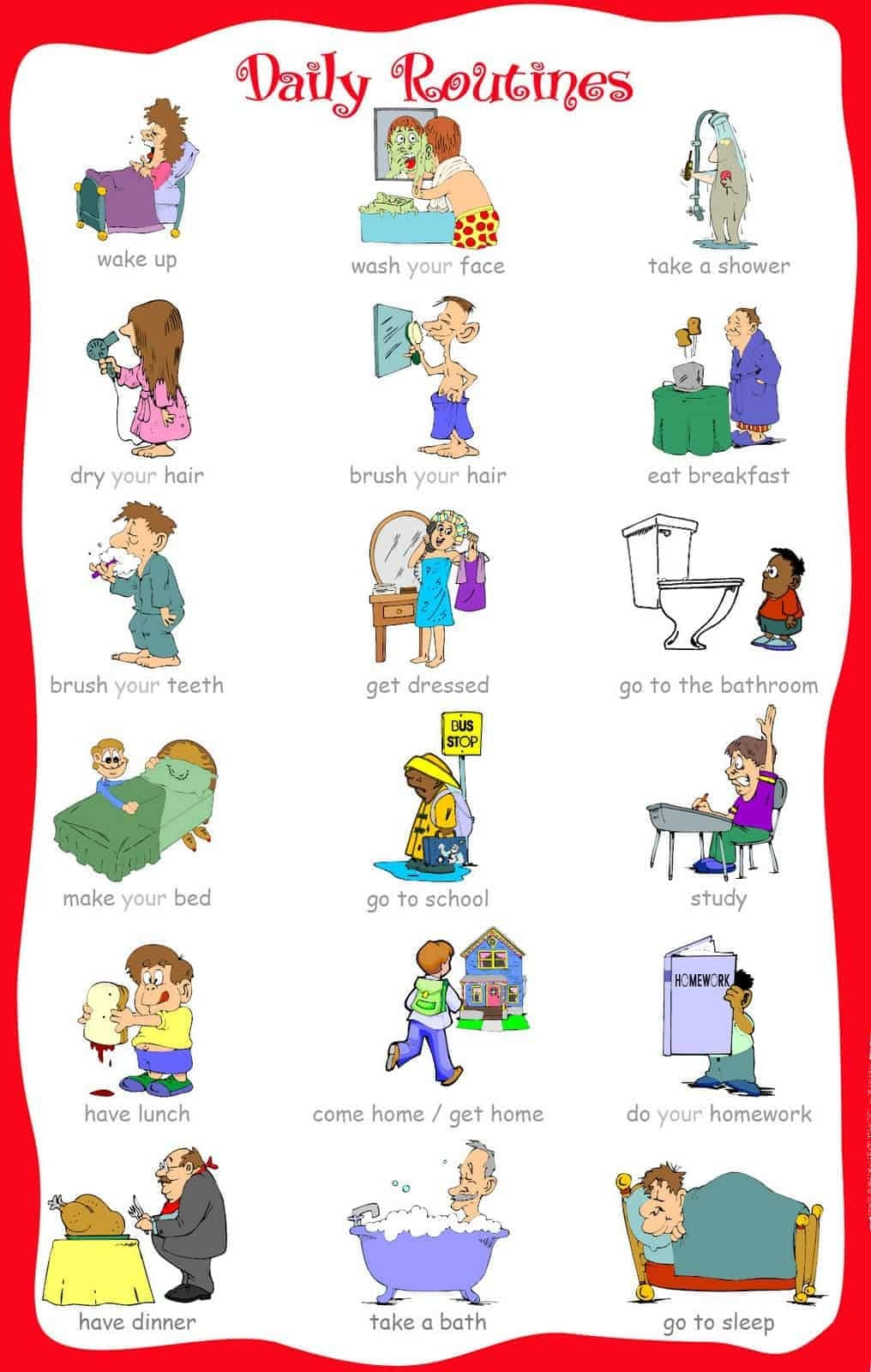 33 Printable Visual/picture Schedules For Home/daily Routines. - Autism Picture Cards Free Printable