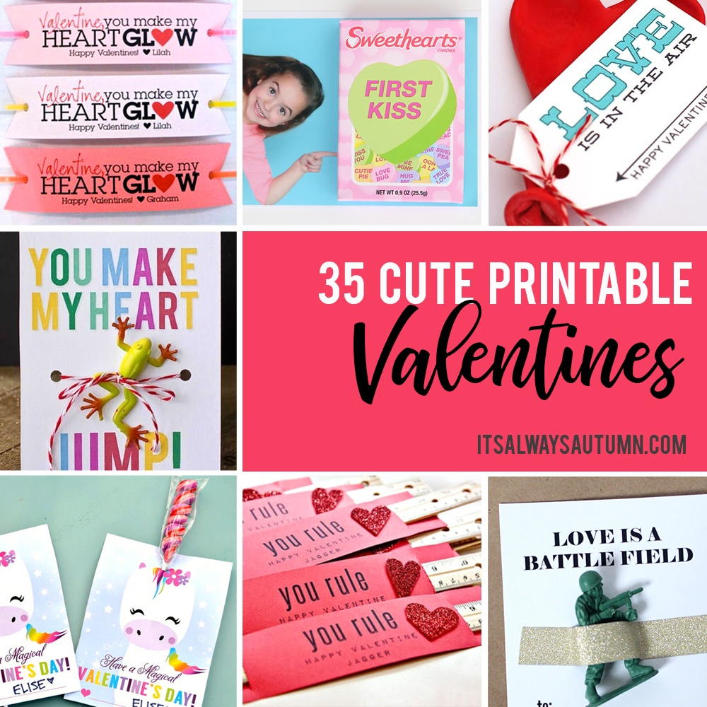 35 Adorable Diy Valentine's Cards To Print At Home For Your Kids - Free Printable School Valentines Cards