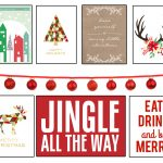 35+ Free Christmas Printables To Frame • Little Gold Pixel   Free Holiday Printables