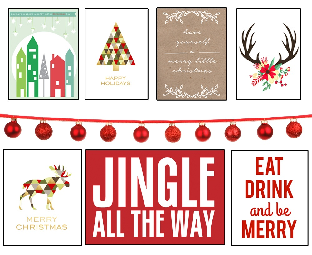 35+ Free Christmas Printables To Frame • Little Gold Pixel - Free Holiday Printables