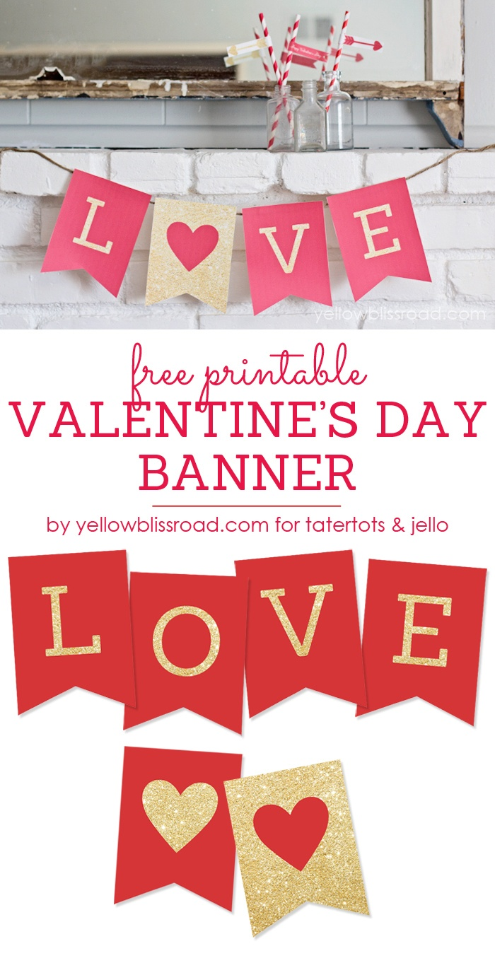 35 Free Printable Valentines - Yellow Bliss Road - Free Printable Valentine Decorations
