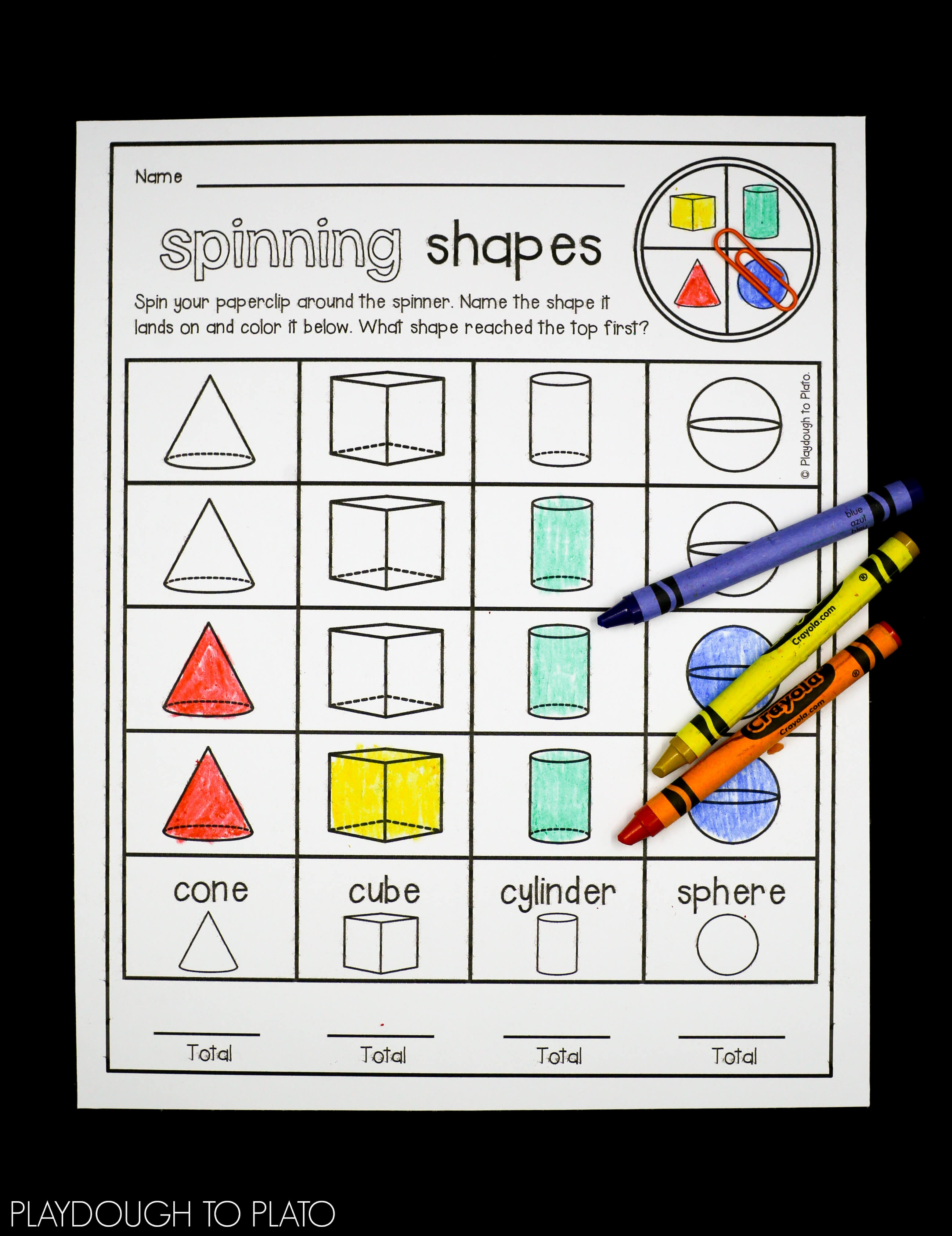 3D Shape Activities - Playdough To Plato - 3D Shape Bingo Free Printable
