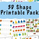 3D Shape Worksheets   Fun With Mama   3D Shape Bingo Free Printable