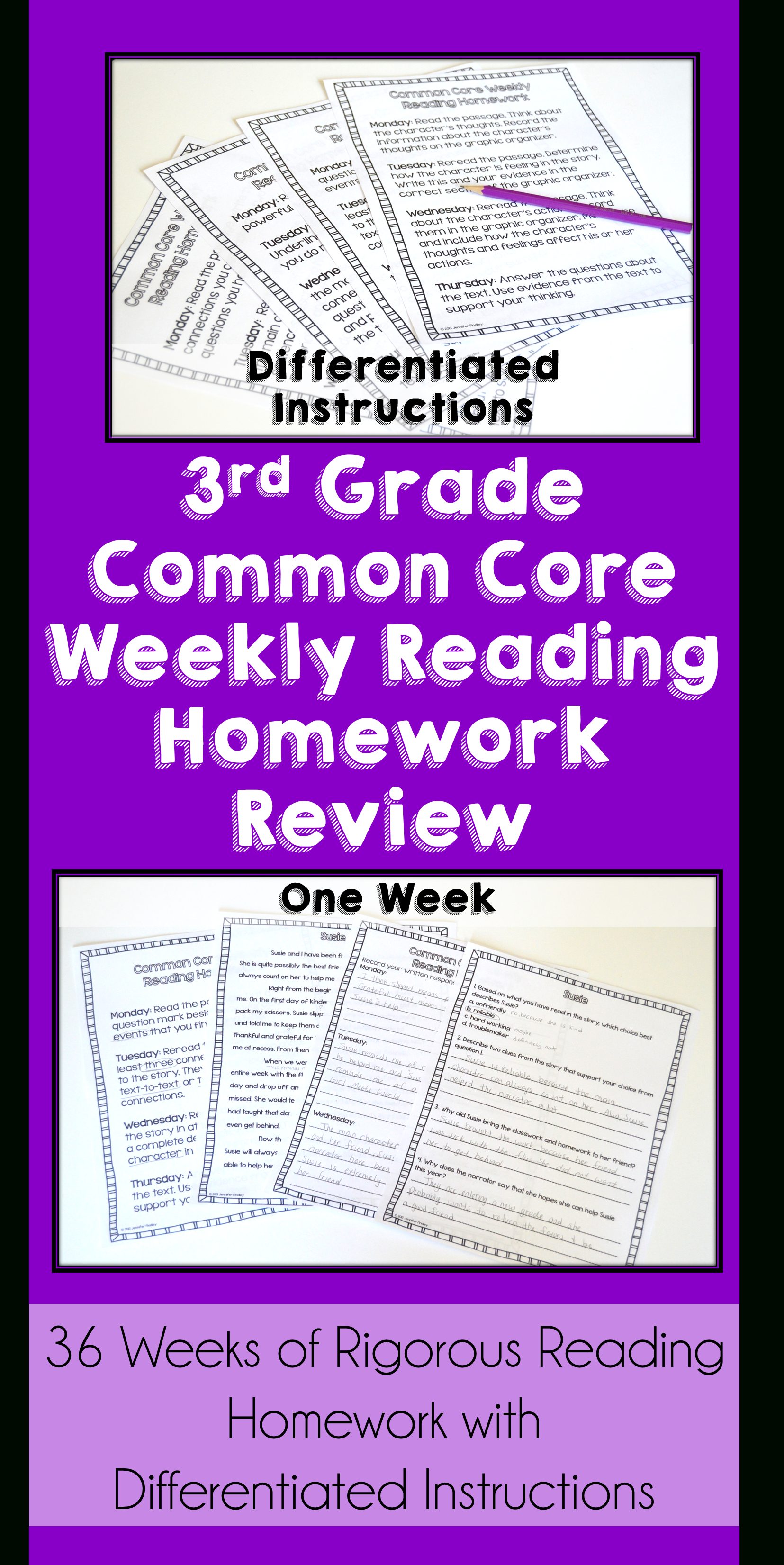 3Rd Grade Reading Homework Bundle | Reading Comprehension Review - Free Printable Read Naturally Passages