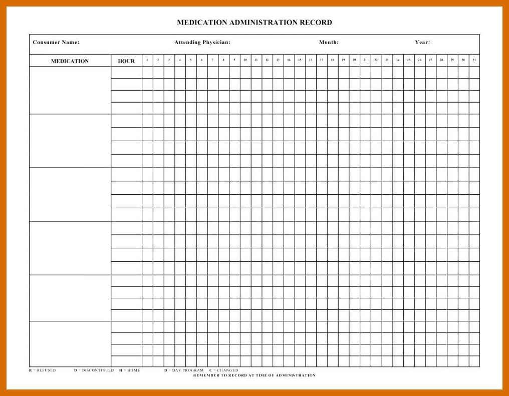 4-5 Free Printable Medication Chart | Salescv - Free Printable Medication Chart
