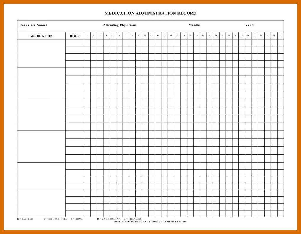 4-5 Free Printable Medication Chart | Salescv - Medication Chart Printable Free