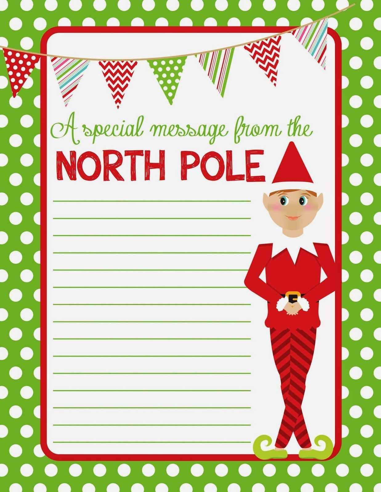 4 Best Images Of Elf On The Shelf Free Printable Christmas Paper - Free Printable Christmas Paper With Borders
