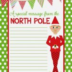 4 Best Images Of Elf On The Shelf Free Printable Christmas Paper   Free Printable Elf Stationery