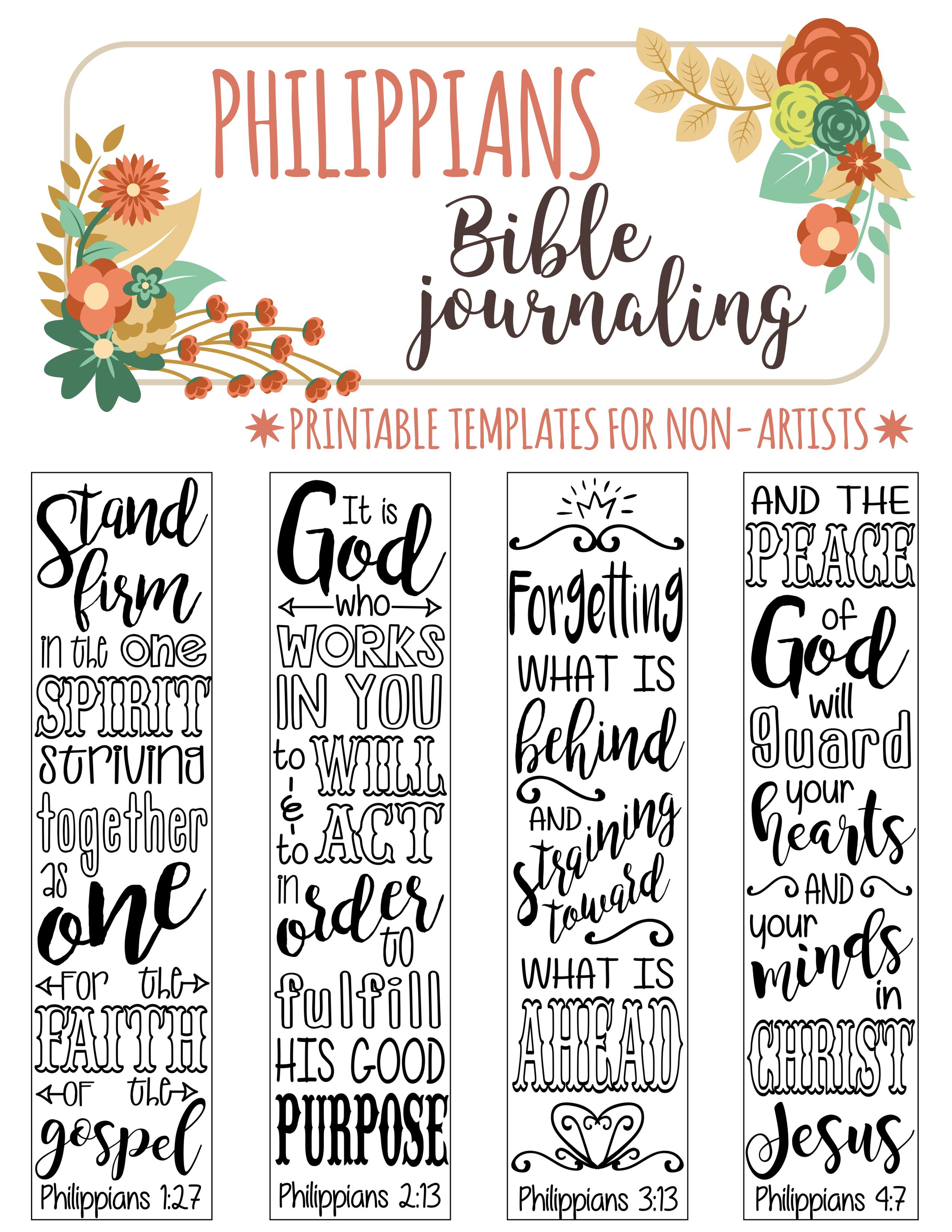 4 Bible Journaling Digital Download Printable Template Bible Verse - Free Printable Bible Bookmarks Templates