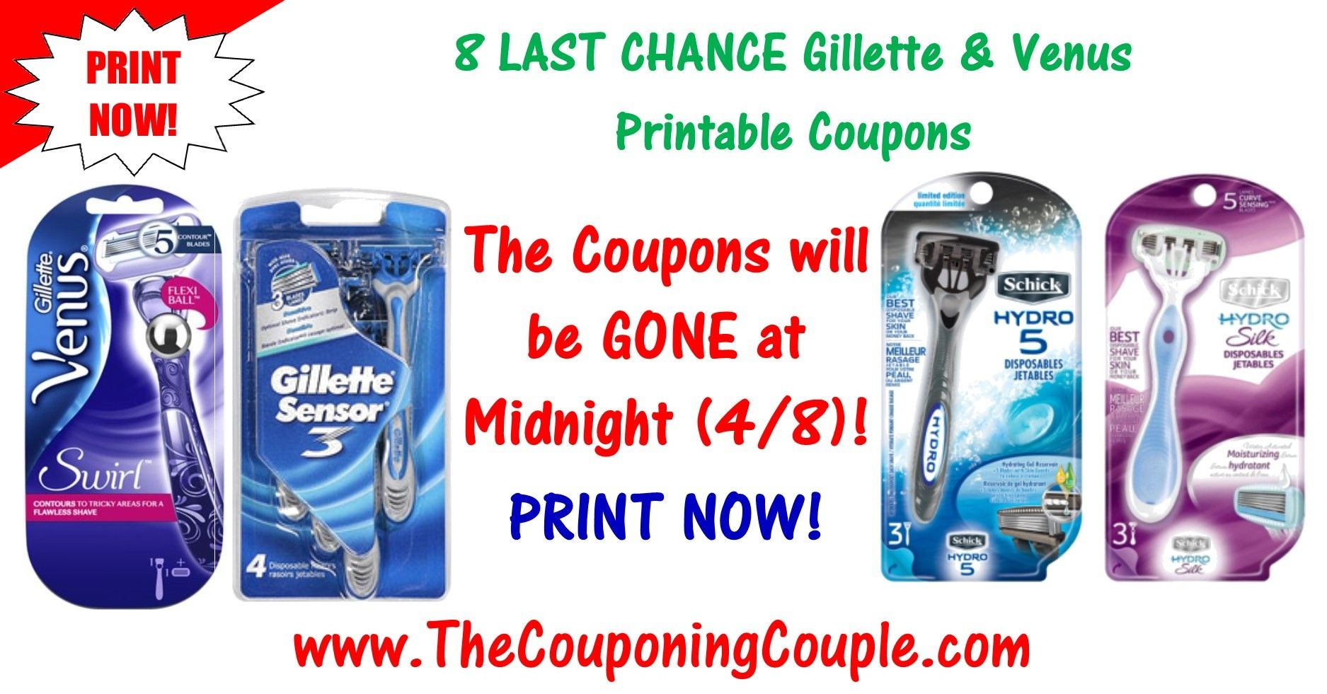 4 Gillette Printable Coupons Available Now ~ Print These Now - Free Printable Gillette Coupons