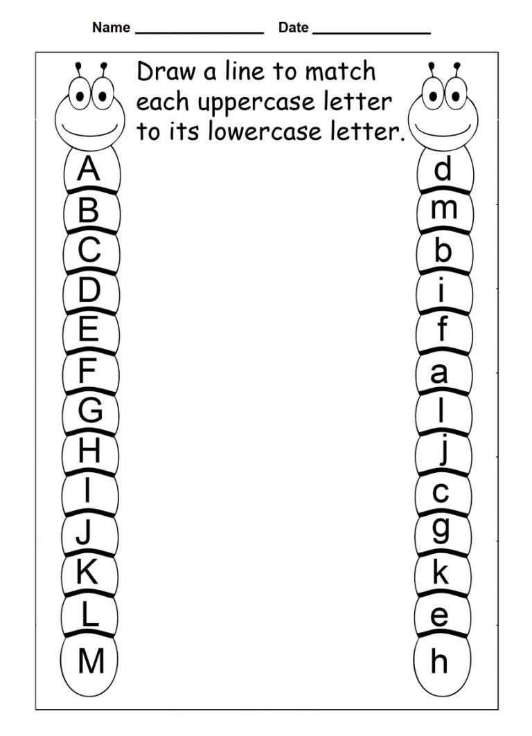 4 Year Old Worksheets Printable Alphabet | Daycare | Kindergarten - Free Abc Printables For Kindergarten