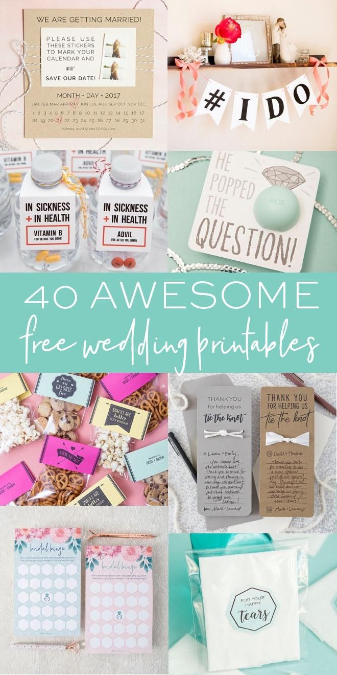 40 Awesome Free Wedding Printables - Something Turquoise - Free Wedding Printables