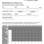 40+ Effective Workout Log & Calendar Templates ᐅ Template Lab   Free Printable Workout Plans