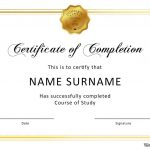 40 Fantastic Certificate Of Completion Templates [Word, Powerpoint]   Certificate Of Completion Template Free Printable