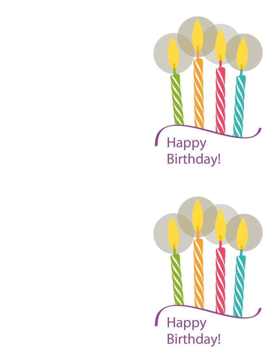 40+ Free Birthday Card Templates ᐅ Template Lab - Free Printable Greeting Cards