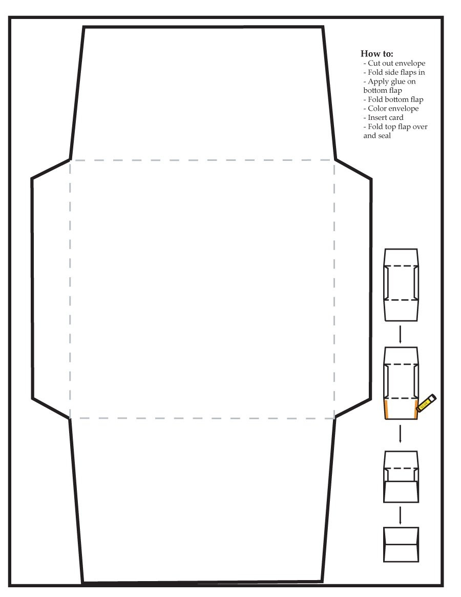 40+ Free Envelope Templates (Word + Pdf) ᐅ Template Lab - Free Printable Greeting Card Envelope Template