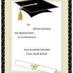 40+ Free Graduation Invitation Templates ᐅ Template Lab   Free Printable Graduation Cards 2018