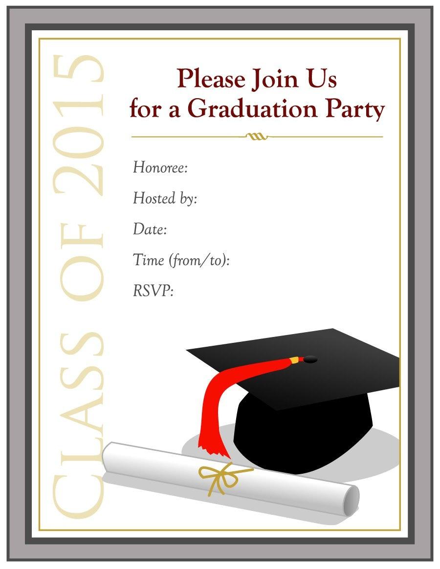 40+ Free Graduation Invitation Templates ᐅ Template Lab - Free Printable Graduation Cards 2018