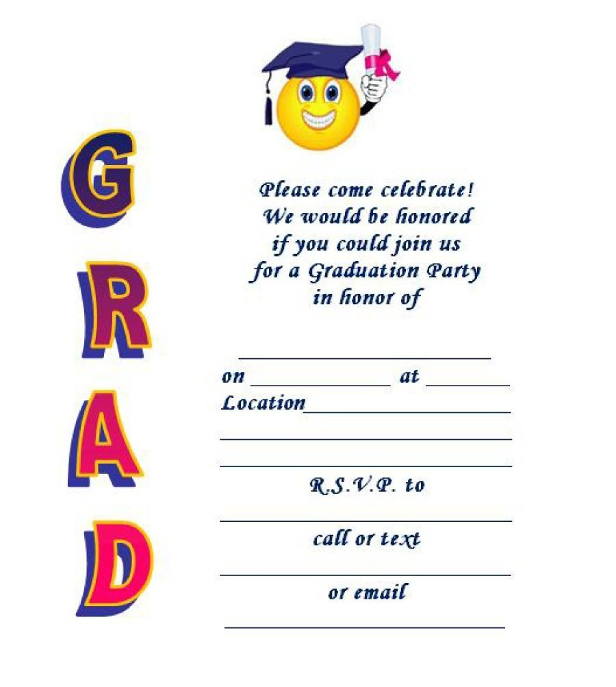 40+ Free Graduation Invitation Templates ᐅ Template Lab - Free Printable Graduation Dinner Invitations