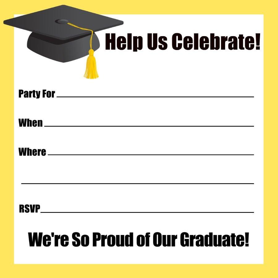 40+ Free Graduation Invitation Templates ᐅ Template Lab - Free Printable Graduation Invitations 2018